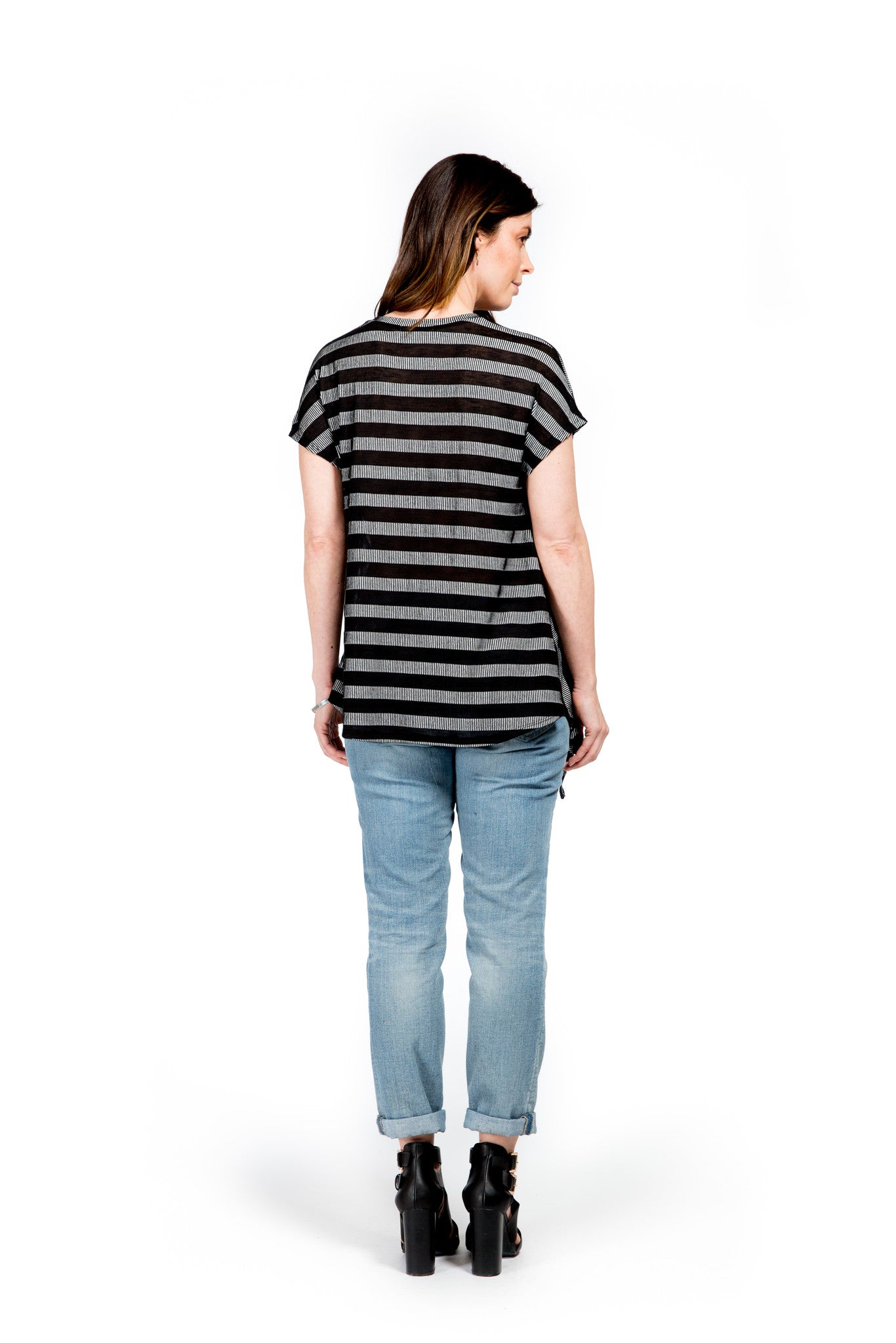 Striped Slash Tee