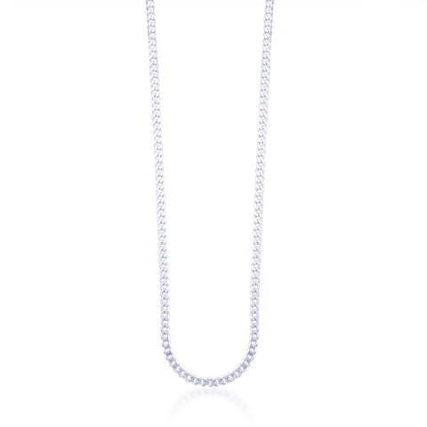 Taraash 925 Sterling Silver Chain For Men Silver-ACDH1006C20IN