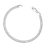 Taraash Curb 925 Sterling Silver Bracelet For Men ACDH1206C8HIN