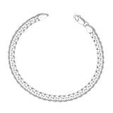 Taraash Curb 925 Sterling Silver Bracelet For Men ACDH1506C8HIN
