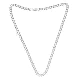 Taraash Sterling Silver Masculine Curb Link Chain For Men ACDH1756C20IN