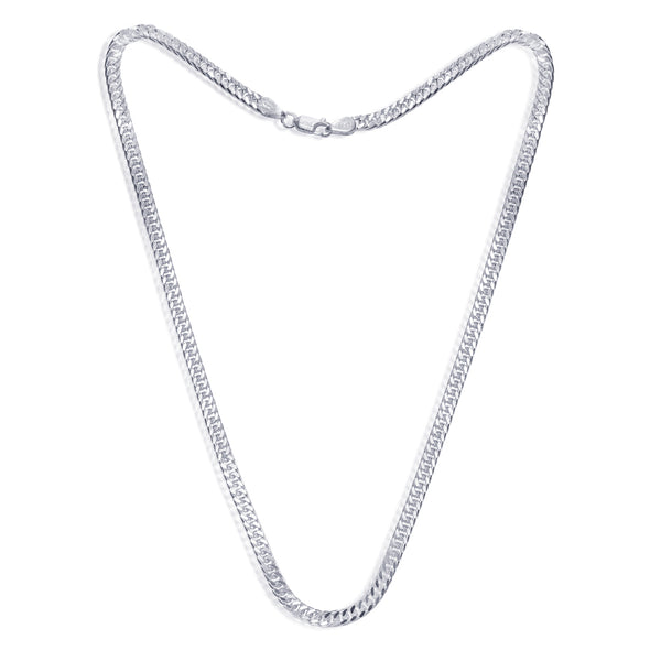 Taraash 925 Sterling Silver Double Curb Chain For Men ADCD10020IN