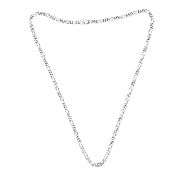 Taraash Sterling Silver Exquisite Figaro Chain For Men AFGH1206C20IN