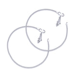 Taraash Single Line Plain Ending with Charm 925 Silver Anklet For Women AN0524S