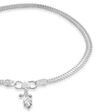 Taraash Sterling Silver Chain Based Anklets For Women AN0548S