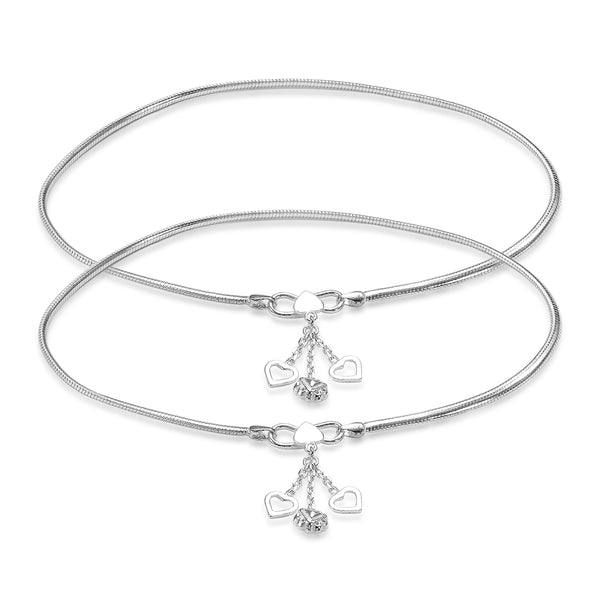 Taraash Sterling Silver snake chain anklets for women AN0553S