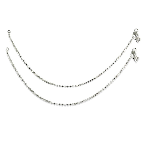 Taraash 925 Sterling Silver Venetian Chain Anklet for Women AN0947S