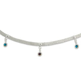 Taraash 925 Sterling Silver Foxtail chain anklet for women AN0978S