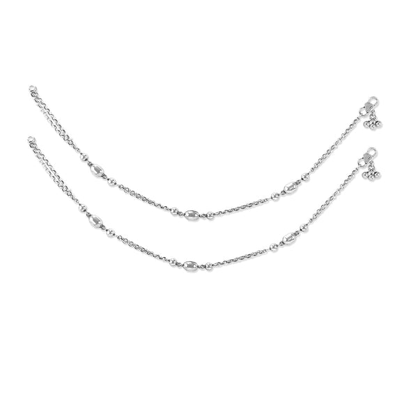 Taraash 925 Silver Antique Anklet-Payal For Women