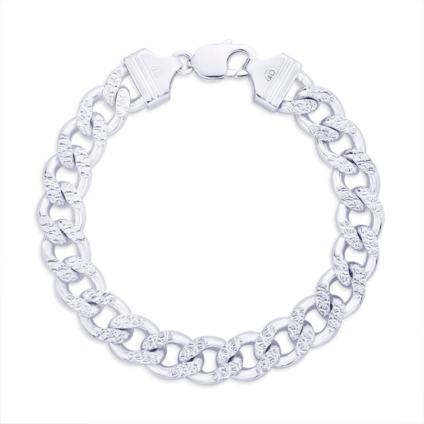 Taraash 925 Sterling Silver  Bracelet  For Men Silver-AP11CDH3008HIN