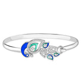 Taraash 925 Sterling Silver Peacock Style Bangle for women BG1460S