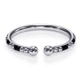 Taraash 925 Sterling Black Beaded Nazariya Bangles For New Born Babies BG1603S