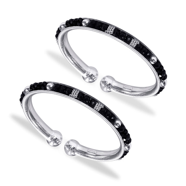 Taraash 925 Sterling Black Beaded Bangles For New Born Babies BG1607S