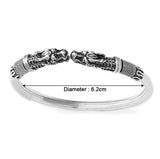 Taraash 925 Sterling Silver Top Openable Dragon Bangle/Kada For Men BG1697A