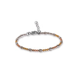 Taraash 925 Silver Gold Plated Ball Design Bracelet for Womens