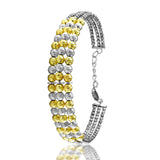 Taraash 925 Silver Gold Plated Bangle For Women