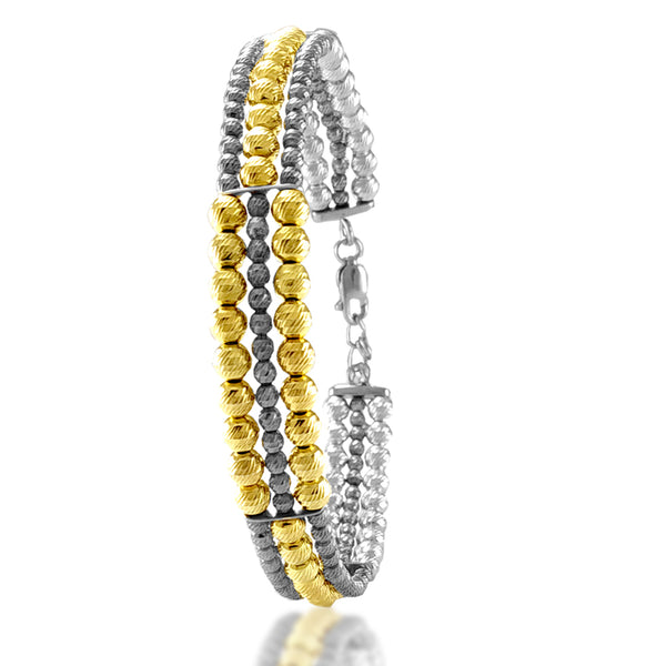 Taraash Sterling Silver Gold Plated Bangle For Women