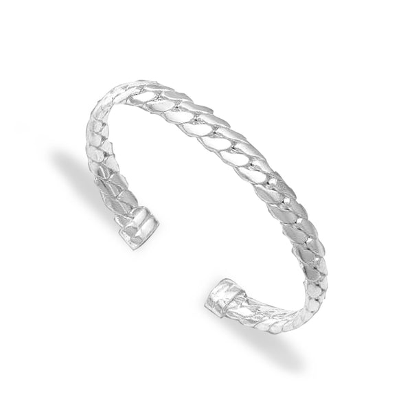 Taraash 925 Sterling Link Silver Kada For Men