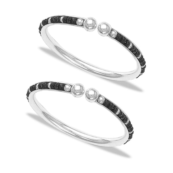 Taraash 925 Sterling Black Beaded Bangle Kadas For New Born Baby