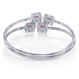 Taraash 925 Sterling Silver Openable Cz Bangle For Women BGML001