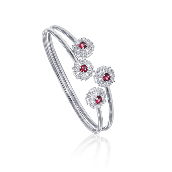Taraash 925 Sterling Silver Openable Cz Bangle For Women BGML002