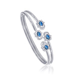 Taraash 925 Sterling Silver Openable Cz Bangle For Women BGML003BL