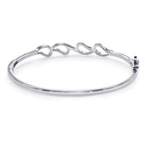 Taraash 925 Sterling Silver White Cz Bangle For Women BGML004