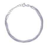 Taraash Multi Chain 925 Sterling Silver Bracelet For Women BR0515S