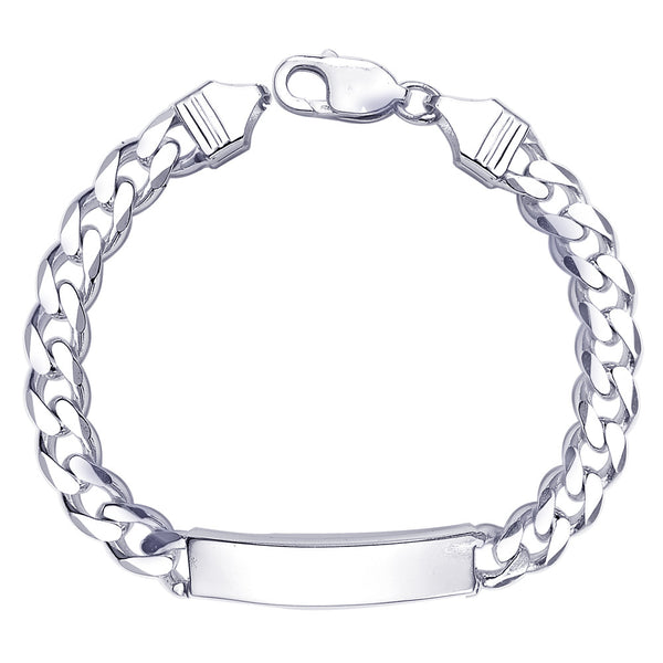 Taraash Curb ID 925 Sterling Silver Bracelet For Men BR0536S
