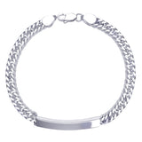 Taraash 925 Sterling Silver Bracelet For Men Silver-BR0543S