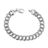 Taraash 925 Sterling Silver Masculine Curb Chain Bracelet For Men BR1198A