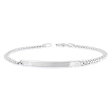 Taraash 925 Sterling Silver Curb Bracelet for men BR1222F