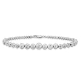 Taraash Sterling Silver Diamond Cut Beaded Ball Bracelet For Women BR1436S