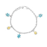Taraash 925 Sterling Silver Charm Bracelet For Girls BR1503S
