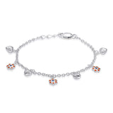 Taraash 925 Sterling Silver Rolo chain Kids Bracelet For Women BR1510S