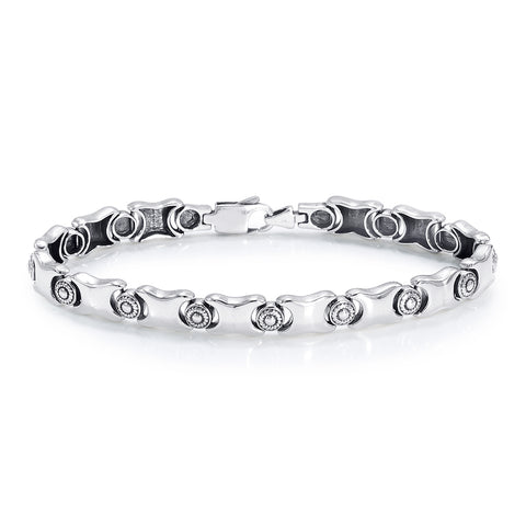 line Silver Bracelets for Men & Women Exclusive Design