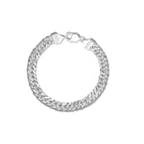 Taraash 925 Sterling Bold Curb Silver Bracelet For Men