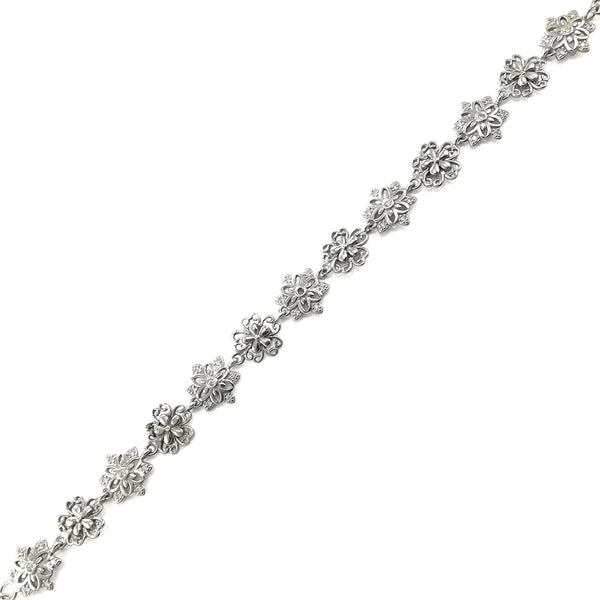 Taraash Sterling Silver Floral Bracelet For Women / Girls BR1665R