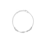 Taraash 925 Sterling Frosted Ball Fancy Silver Bracelets For Women