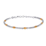 Taraash 925 Sterling Silver Gold Plated Silver Balls Bracelet For Women BR1840G