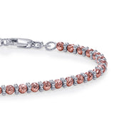 Taraash 925 Sterling Silver Beaded Bracelet For Women BR1841G