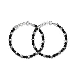 Taraash 925 Sterling Silver Nazariya Bracelet For New Born Baby Set of Two BR1845S-1
