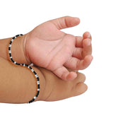 Taraash 925 Sterling Black Beaded Nazariya Set Bracelet For Kids BR1846S-1