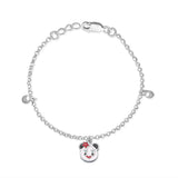 Taraash 925 Silver Teddy Bear Bracelet For Kids/Girls