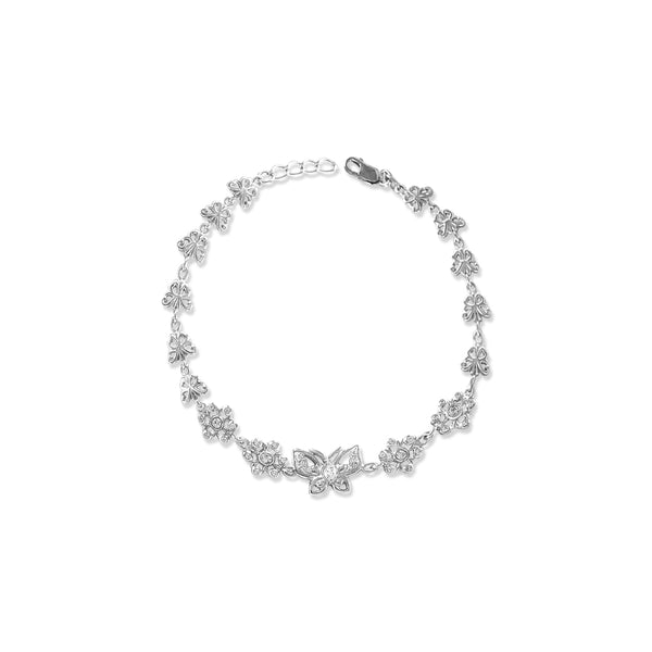 Taraash 925 Sterling Bewitching Butterfly Silver Bracelet For Women