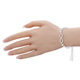 Taraash 925 Sterling Infinity Silver Bracelets For Women