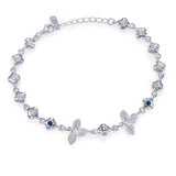 Taraash 925 Sterling Silver Leaf Design Colorful Cz Bracelet For Women BRML002