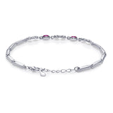 Taraash 925 Sterling Silver Floral Design Colorful Cz Bracelet For Women BRML003