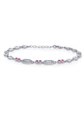Taraash 925 Sterling Silver Heart Shape Link Bracelet For Women BRML004