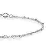 Taraash 925 Sterling Silver Heart Bracelet for Women BRML006